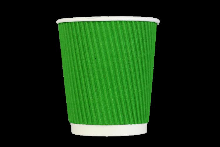 Стакан гофрований 350 мл зелений