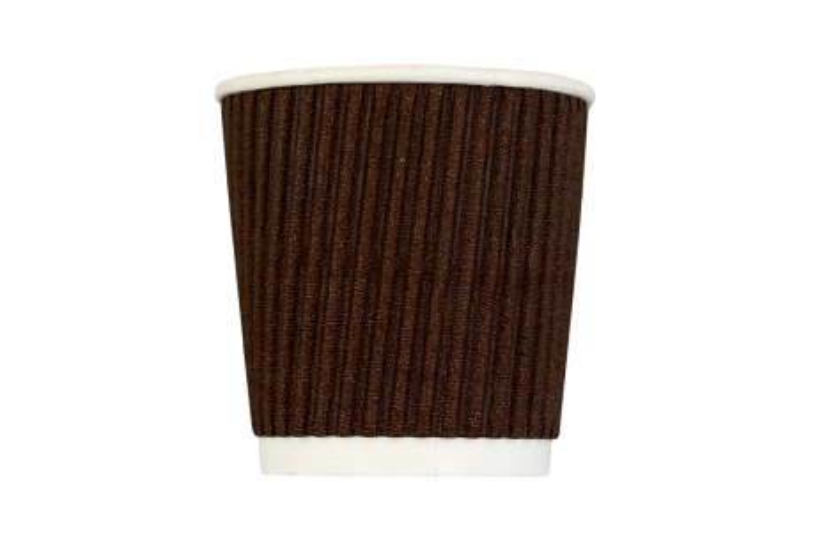 Стакан гофрированный 110 мл коричневый