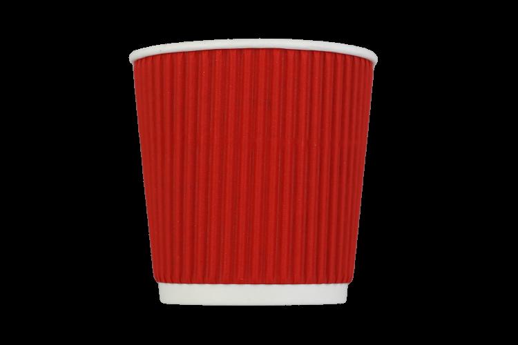Стакан гофрированный 110 мл красный